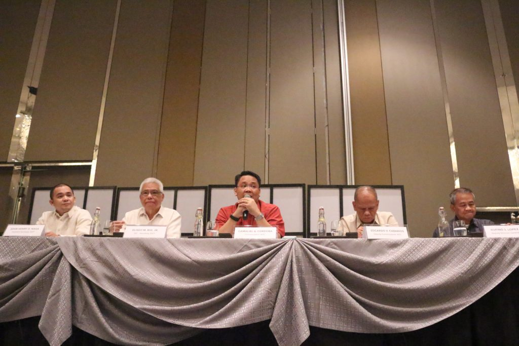 The event was led by DICT OIC Eliseo M. Rio Jr. and NTC Commissioner Gamaliel A. Cordoba. DICT Assistant Secretary John Henry D. Naga, NTC Deputy Commissioner Edgardo V. Cabarios, and NSC Deputy Director General Rufino S. Lopez Jr. served as the panelist.