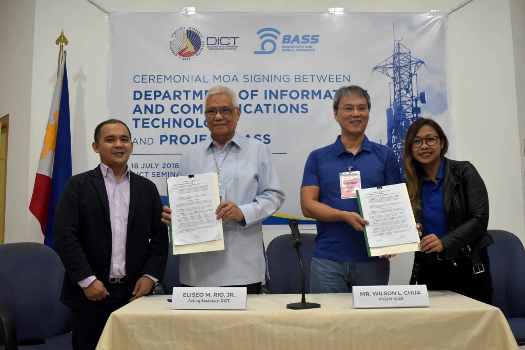 MOA Signing between DICT and Project Bass