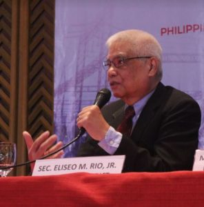Acting Secretary Rio during the signing of the Tripartite Agreement between DICT, NGCP, and TransCo. (DICT file photo)