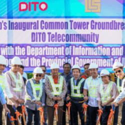 LCS Group's Inagural Common Tower Ground Breaking DITO Telecommunity
