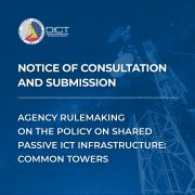 Notice of Consultation and Submission – Agency Rulemaking on the Policy on Shared Passive ICT Infrastructure: Common Towers