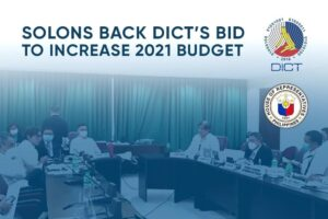 Solons back DICT's bid to increase 2021 budget