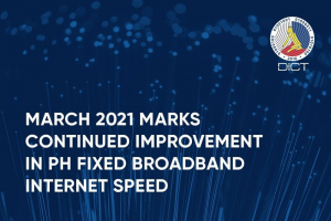 March 2021 marks continued improvement in PH fixed broadband internet speed